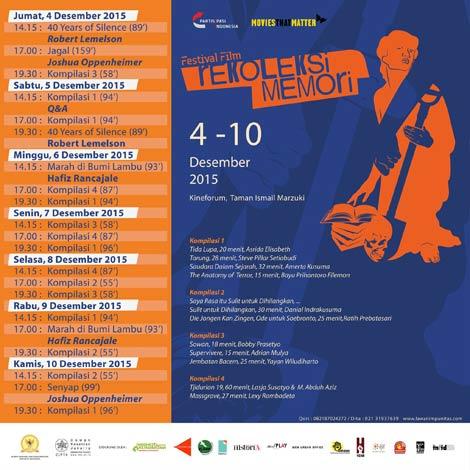 Poster Festival Film Rekoleksi Memori 1965 (Ist)